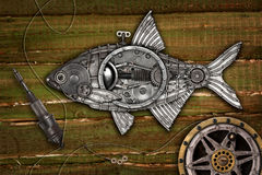 Brème de poissons de style de Steampunk Photos libres de droits