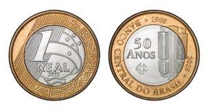 ` Brésilien de banque centrale de pièce de monnaie ` commémoratif du ` un de vrai cinquante ans 1965 de ` photo libre de droits
