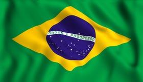 Brésilien de ondulation de symbole du Brésil de drapeau illustration stock