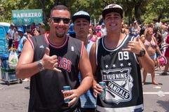 Brésiliens dans le carnaval Photographie stock