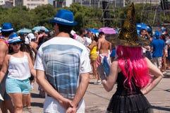 Brésiliens dans le carnaval Photo libre de droits