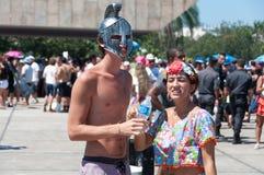 Brésiliens dans le carnaval Photos libres de droits