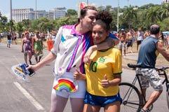 Brésiliens dans le carnaval Photo stock