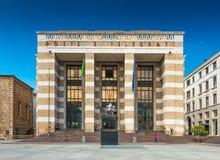 Bríxia, Itália: A estação de correios principal em Bríxia situou no quadrado da vitória imagem de stock royalty free