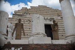 Bríxia, Itália, o 11 de agosto de 2017, museu das ruínas romanas e S Foto de Stock