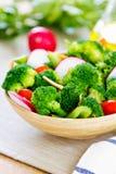 Brócolis com salada do aipo e do rabanete Imagem de Stock Royalty Free