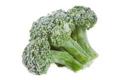 Brócolis congelados isolados imagens de stock