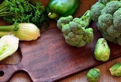 Brócolis, couve-de-bruxelas, pimenta de sino e erva-doce Fotos de Stock Royalty Free