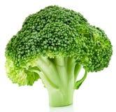 Brócolis crus isolados foto de stock