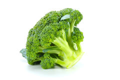 Brócolis crus no fundo branco Imagens de Stock