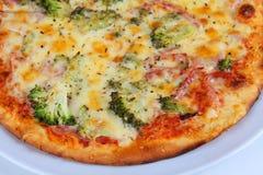 Brócolis da pizza Imagem de Stock