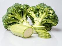 Brócolis e abobrinha fotografia de stock royalty free