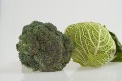 Brócolis e couve-de-milão Imagens de Stock Royalty Free