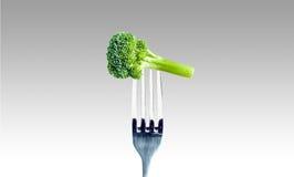 Brócolis em uma forquilha Foto de Stock Royalty Free