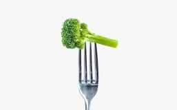Brócolis em uma forquilha Imagens de Stock Royalty Free