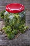 Brócolis enlatados Imagem de Stock