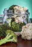 Brócolis enlatados Fotografia de Stock Royalty Free