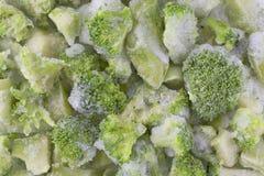 Bróculi congelado Foto de archivo libre de regalías