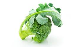 Bróculi crudo fresco aislado en el fondo blanco Foto de archivo libre de regalías