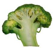 Bróculi de la col verde aislado en el fondo blanco imagen de archivo libre de regalías