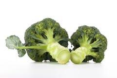 Bróculi en el fondo blanco Foto de archivo libre de regalías