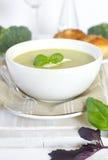 _bróculi poner crema sopa Imagen de archivo