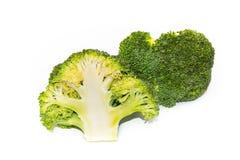 Bróculi verde fresco aislado en el fondo blanco Foto de archivo