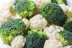 Bróculi y coliflor Imagen de archivo
