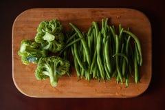 Bróculi y espárrago imagen de archivo
