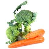 Bróculi y zanahorias Foto de archivo