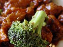 Bróculos com galinha Foto de Stock