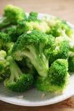 Bróculos cozinhados Fotografia de Stock Royalty Free