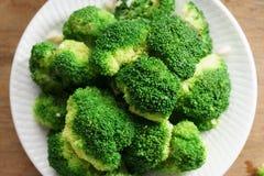 Bróculos cozinhados Foto de Stock Royalty Free