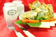 Bróculos de queijo Imagens de Stock