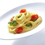 Bróculos de Spagetti com Parmesão fotografia de stock