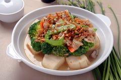 Bróculos do Tofu Imagens de Stock Royalty Free