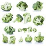 Bróculos isolados no branco Fotografia de Stock Royalty Free