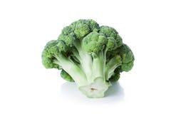 Bróculos isolados no branco Foto de Stock Royalty Free