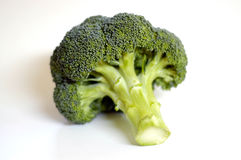 Bróculos no branco foto de stock royalty free