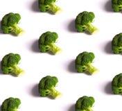 Bróculos no fundo branco imagem de stock