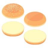 bröd 3d för hamburgare Arkivbild