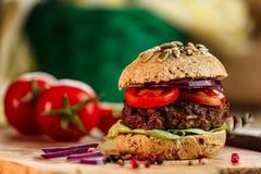 Bröd för hamburgare och för helt vete Fotografering för Bildbyråer