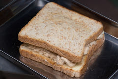 Bröd för läcker thai frukost för Closeup sunt nytt med smaklig söt grisköttfloss arkivbilder