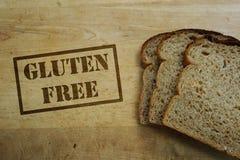 bröd frigör gluten Arkivbild