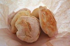 Bröd i en paper påse Royaltyfri Foto