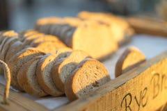 Bröd i frukost Royaltyfria Foton