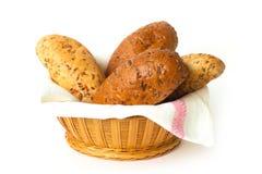 Bröd i korgen Royaltyfri Bild