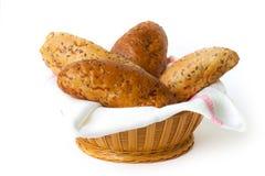 Bröd i korgen Royaltyfria Bilder