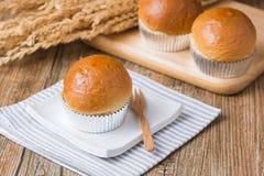 Bröd i muffin Arkivbilder