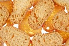 Bröd isolerad vit bakgrund Royaltyfri Bild